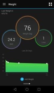 Screenshot Garmin Connect app
